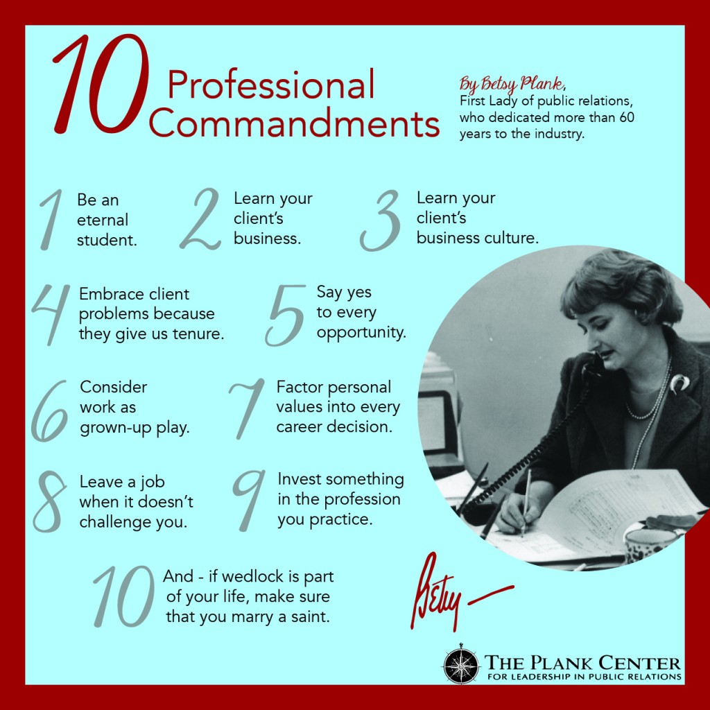 Betsys10ProfessionalCommandments