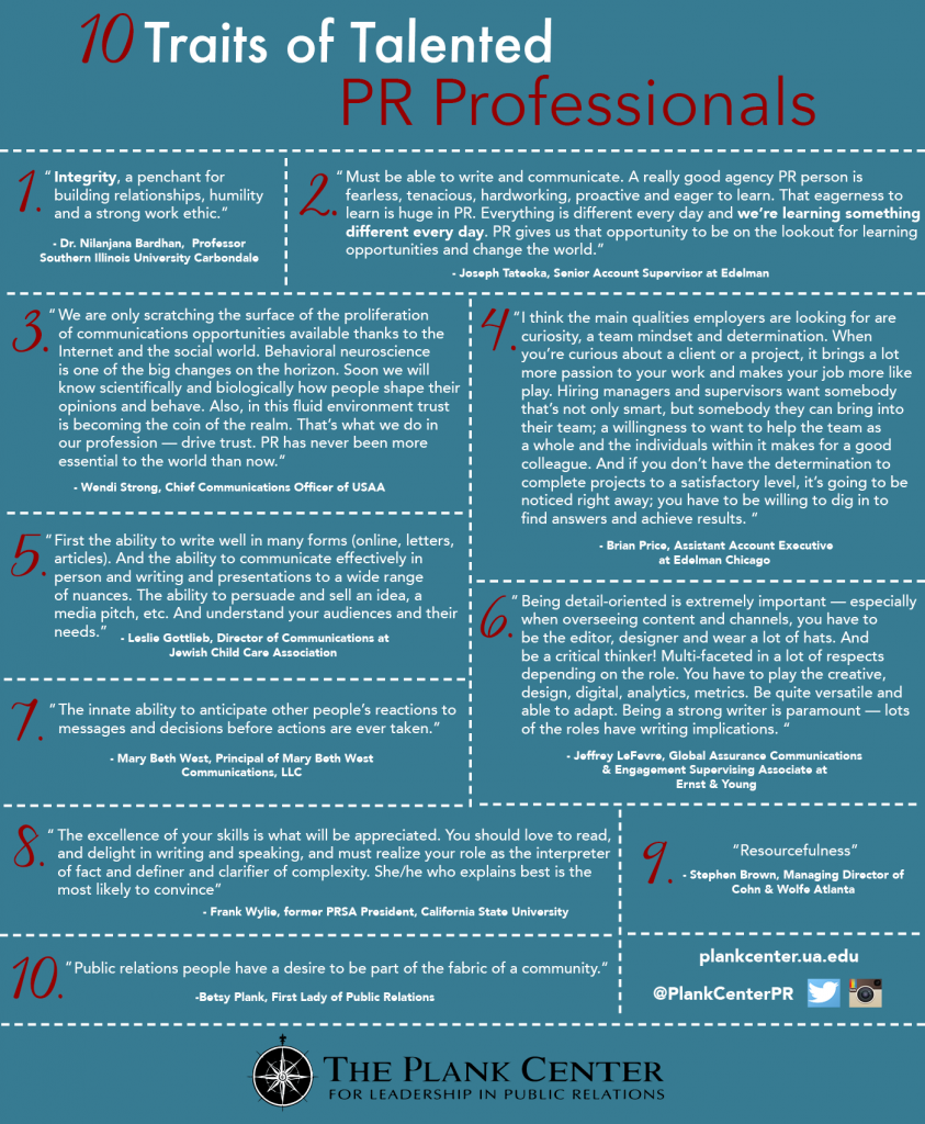 Infographic: 10 Traits of Talented Public Relations Pros