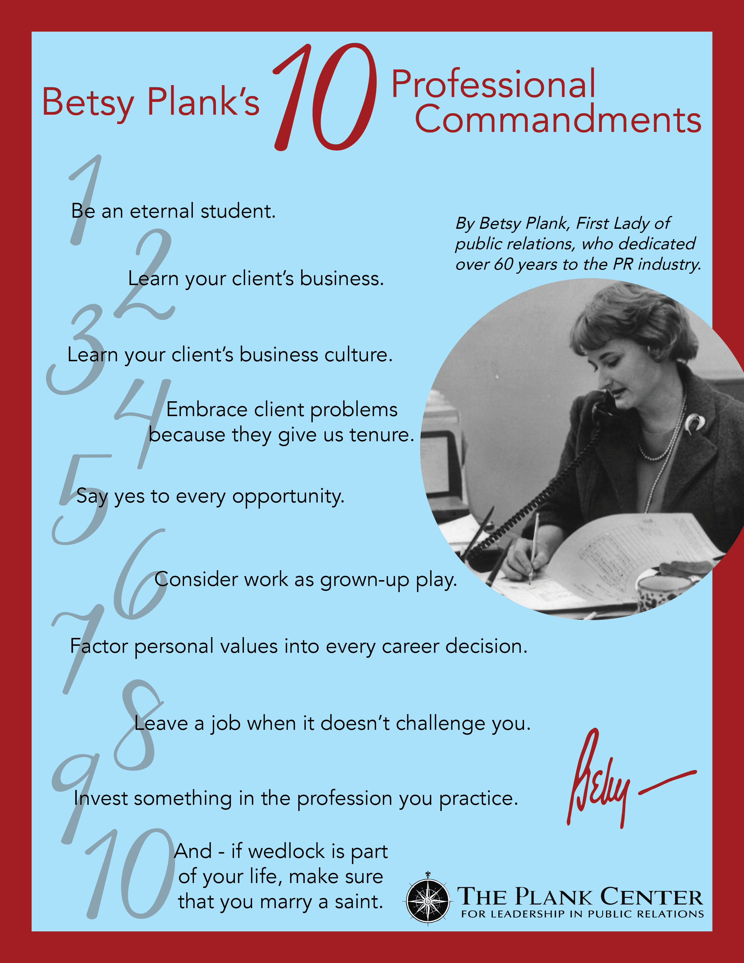 Betsy's 10 Commandments