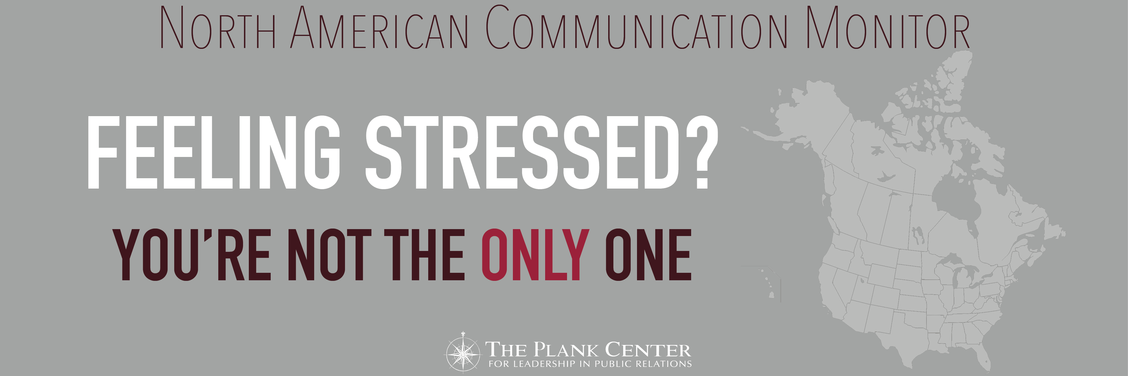 More than half of the communication professionals feel tense or stressed out during a typical work day. Most of the North American practitioners can cope with this. But more than one in ten do not have sufficient resources to cope with their work stress.